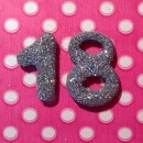 Sprinkled Glitter - 4cm Numbers 4cm (Fits all Sizes)